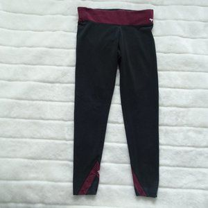🌵  Pink Victoria's Secret Yoga Pants Medium Black